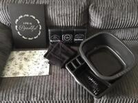 Bundle black kitchen items new not used