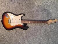 Fender Stratocaster LEFT HANDED (with travel case and jack)