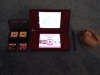 Dsi XL with charger and games