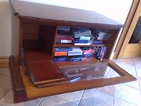 Satellite TV/ Video/DVD Equipment Cabinet with Integral Storage shelves and Drawer