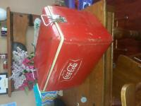early to mid 60's metal Coca Cola Cooler