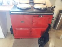 Oil-fired 2 oven 2 hob red Aga