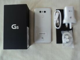 LG G6 in White, Brand New Boxed never Used, 32gb, Unlocked to all Networks