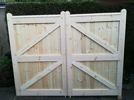 Mortice & Tenon V lining Driveway Gates