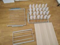 IKEA PAX Wardrobe Oak effect Accessories (Shelves, Shoe Rack, Tie Rack, Pants Rack)