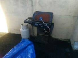 Barbecues and gas bottle