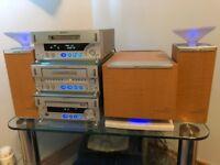 SONY MDS-SD1 HIFI MINIDISC/CD/CASSETTE SUB WOOFER & SATELLITE SPEALERS