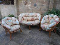 3 Piece Cane Furniture Set