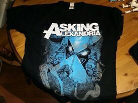 Asking Alexandria L and XL Genuine Shirts Good condition