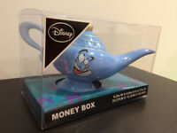 Disney Aladdin Genie Money box, by Primark, blue ceramic, Aladdin's lamp