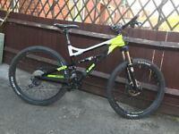 Calibre bossnut full suspension mountain bike will post
