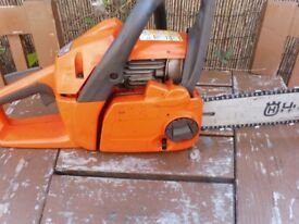 HUSQVARNA 240 X TORQUE CHAINSAW WITH ALMOST NEW BAR AND CHAIN