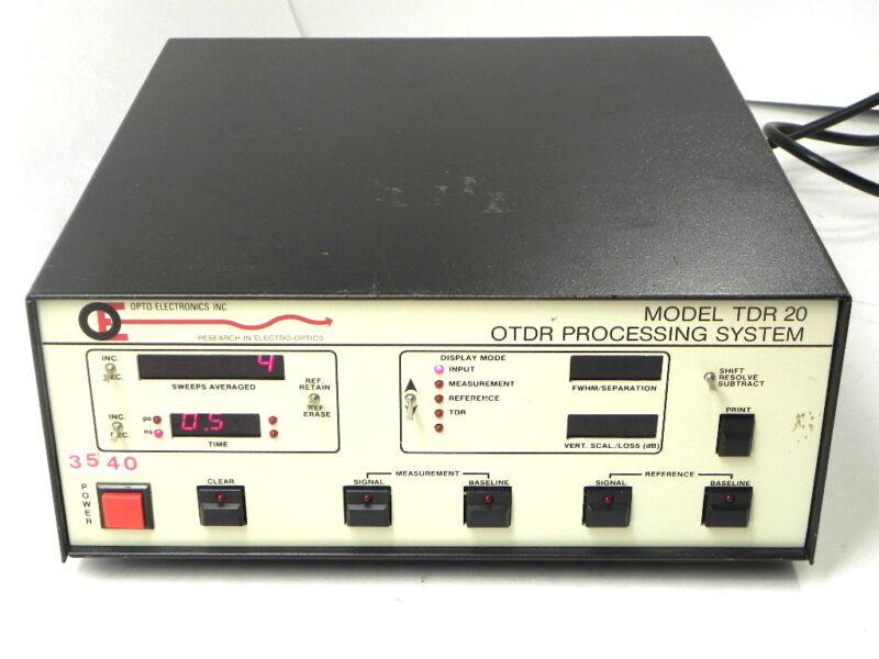 TDR20 OPTO Electronics OTDR Processing System