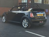 2011 MINI COOPER D CONVERTIBLE * 1.6 DIESEL * FULL HISTORY * BLACK LEATHER * PART EX * DELIVERY *