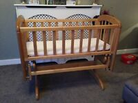 £25 - John Lewis Anna Glider Crib with 2 mattresses