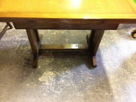 Vintage solid wood dining table and 4 chairs