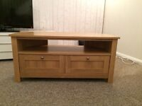 Corner TV stand and side table