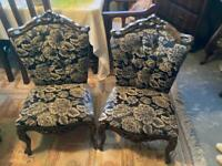 Antique sofa with matching chairs