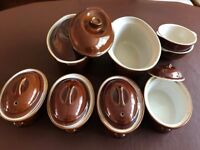 Brown Oval Ceramic Pie Dishes