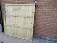 Unused 6ft x 6ft fence panel.