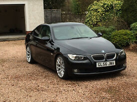 Stunning 330d turbo coupe in black