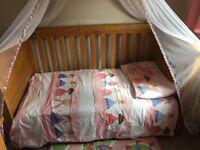 Mamas & Papas Ocean Rangeure Junior Bed and Cot (VGC)