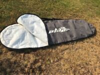 """Surf Board Bag. Padded with zip , carry handle and shoulder strap. Max 94"""" x 24"""" internal."""