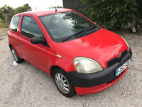 2002 52 plate toyota yaris gs 1.0 cc NEW 1 years MOT small engine good driver cheap insurance
