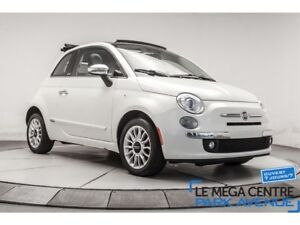 2012 Fiat 500C Lounge, CUIR CABRIOLET