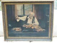 Medium Framed Print Of A Tailor signed AL Grace