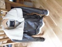 Ladies Flying Jacket( 8/10) leather and sheepskin