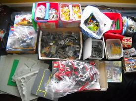 HUGE LEGO MIXED LOT - SETS PIECES FIGURES TILES PLATES ROADS