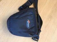 Lowe Alpine Camera Case, black with internal and external zipped pocket, belt holder, shoulder strap