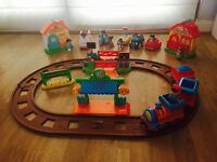 Happy land bundle (country train set, doctors surgery, post office and city road race)