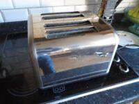 Asda George Stainless Steel Four Slice Toaster