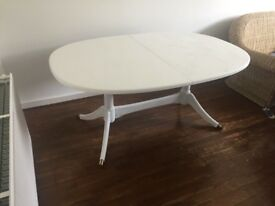Large white expandable desk or dining table