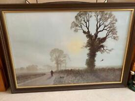 Framed Gerald Coulson 'frosty morning' print