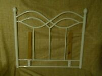 SINGLE BED HEADBOARD WHITE EXCELLENT CONDITION