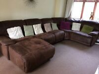 Huge Harvey's Corner Sofa with Chaise Lounge & Recliner