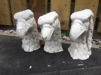 3 x bird garden ornaments statues (Wollaton)
