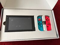 Nintendo switch, like new complete package with 3 games.