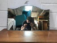 Vintage frameless bevelled Mirror