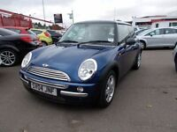 MINI COOPER*2004-04 REG*IN METALLIC BLUE**ALLOYS**LEATHER**AIR-CON**FULL YEAR MOT**£2195