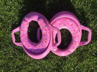 2x Peppa Pig toilet toddler seats