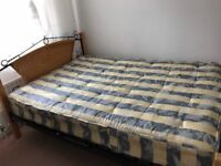 Double bed with mattress and all parts