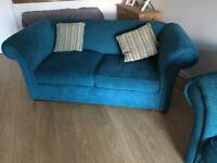 2x2 teal couches four cushions included