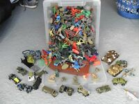 Toy soldiers with tanks job lot