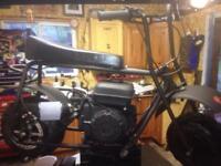 2 dirt bug mini bikes trade for small snowmobile
