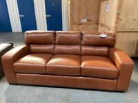 Brand new Tan leather 3 seater sofa