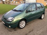 03 RENAULT SCENIC FIDJI 1.6 PETROL LOW MILES 78K DRIVES SUPER FIRST TO SEE WILL BUY RARE AUTO MODEL